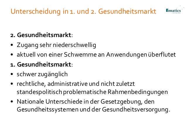 Unterscheidung in 1. und 2. Gesundheitsmarkt 2. Gesundheitsmarkt: • Zugang sehr niederschwellig • aktuell von einer Schwem...