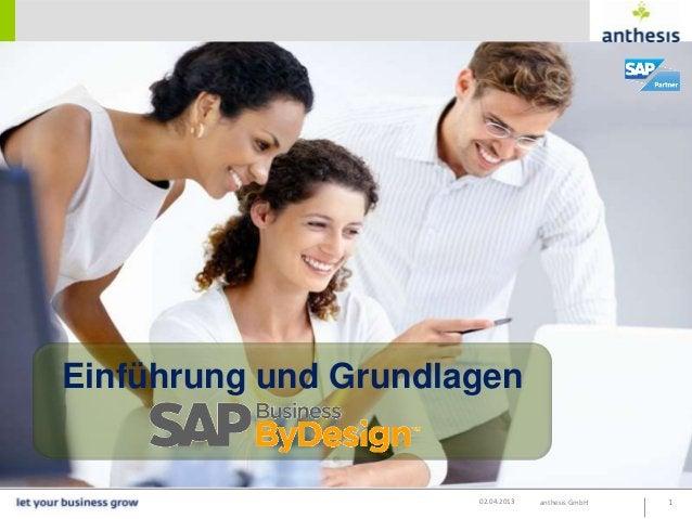 Einführung und Grundlagen                      02.04.2013   anthesis GmbH   1