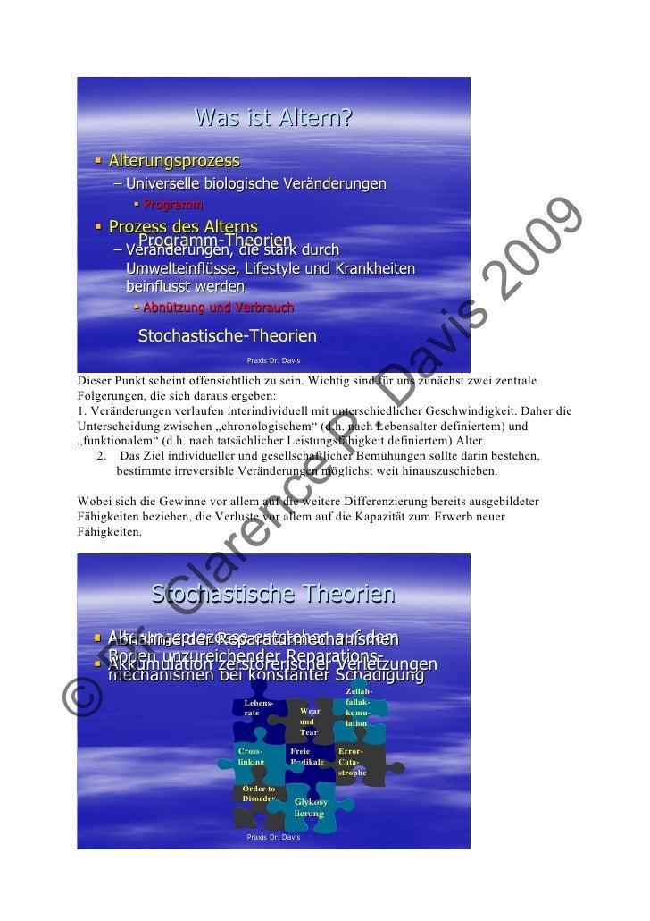 Was ist Altern?      Alterungsprozess       – Universelle biologische Veränderungen             Programm      Prozess des ...