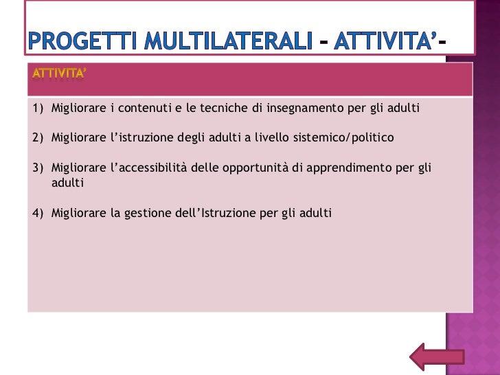 Priorità 1 : Competenze chiave  Priorità 2: Migliorare la qualità, l'attrattiva e l'accesso all'educazione degli          ...