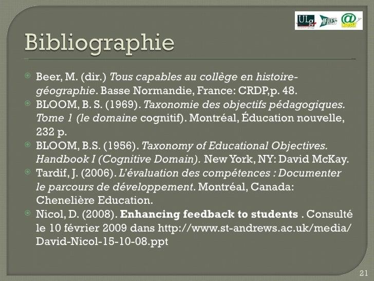 <ul><li>Beer, M. (dir.)  Tous capables au collège en histoire-géographie . Basse Normandie, France: CRDP,p. 48. </li></ul>...