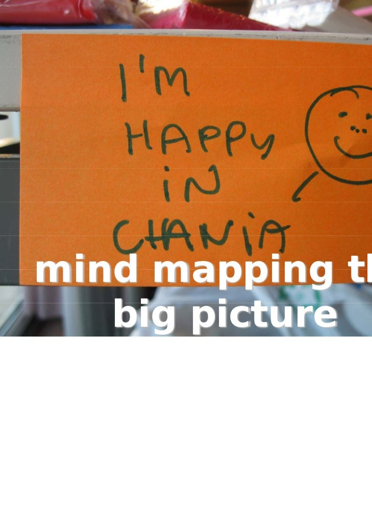 mind mapping the   big picture