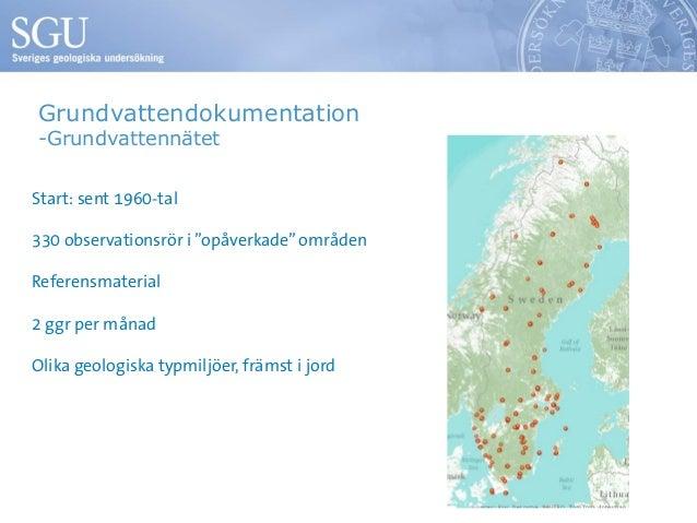 Grundvatten Vad Arbetar Sgu Med Lars Ove Lang