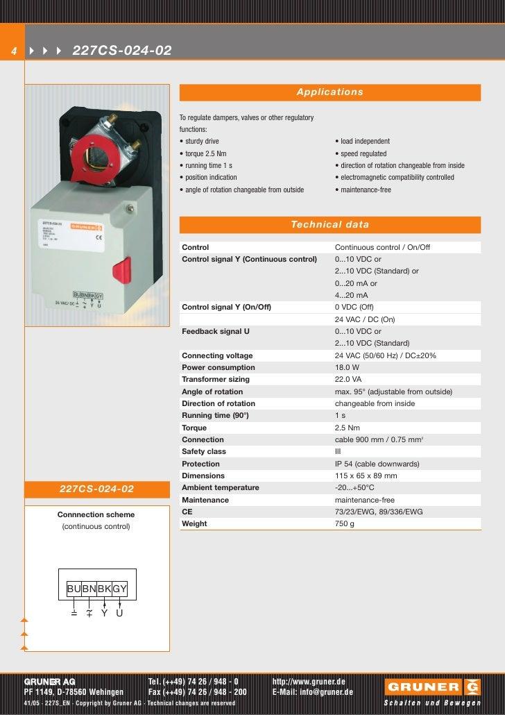 Business, Office & Industrial HVAC 24v Gruner Damper Motor ...