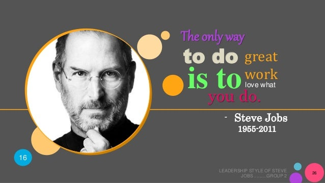 steve jobs leadership style and analysis 14 inspiring leadership principles from steve jobs published on  skillfully distilled what is essentially an executive summary of jobs' leadership style,.