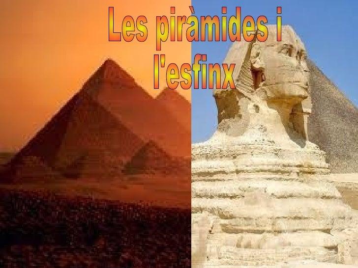 Les piràmides i  l'esfinx