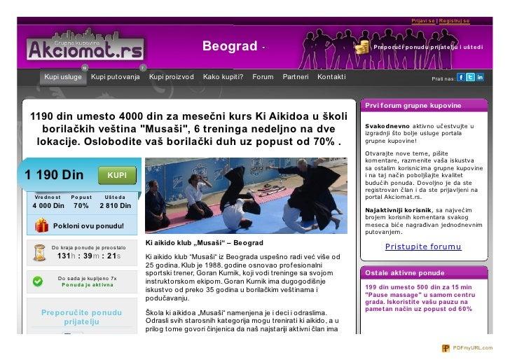 Prijavi se | Registruj se                                                                 Beograd                         ...