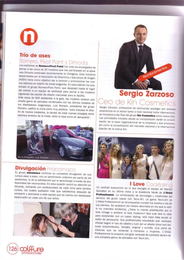 Grupo macomaco - artículos - revista coiffure nº293 ''divulgacion macomaco''