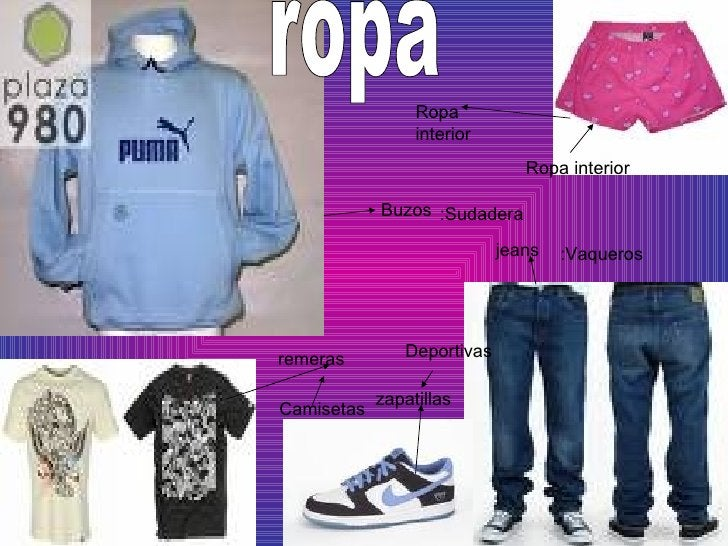 zapatillas remeras Buzos jeans Ropa interior ropa :Vaqueros :Sudadera Deportivas Camisetas Ropa interior
