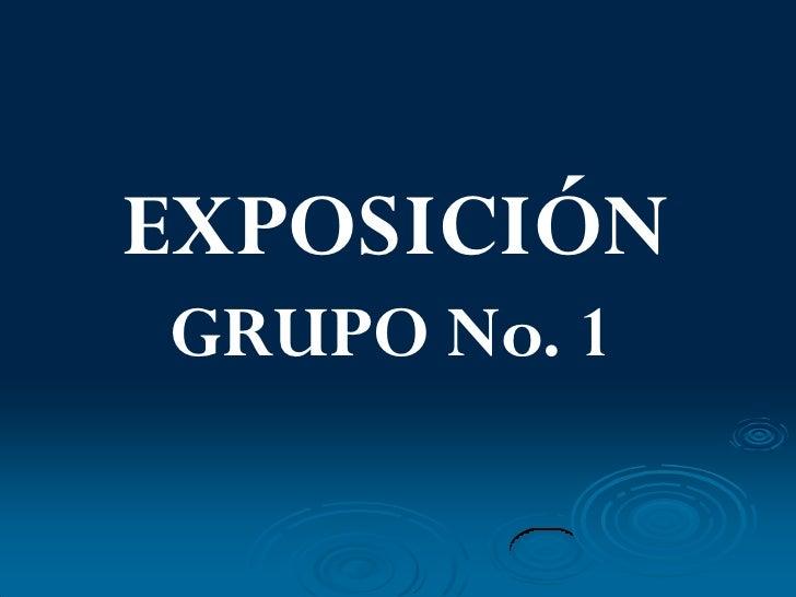 EXPOSICIÓN GRUPO No. 1