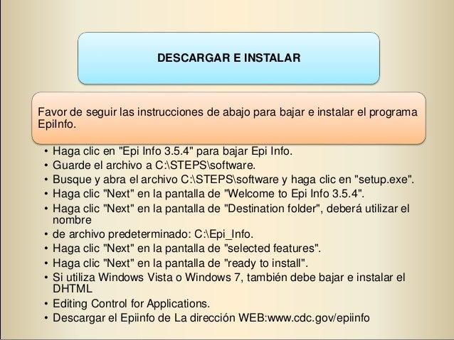 epi info descargar español
