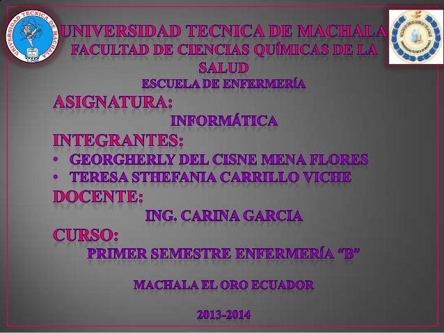INFORMÁTICA La informática es una ciencia que estudia métodos, procesos, técnicas, con el fin de almacenar, procesar y tra...