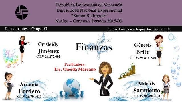 "República Bolivariana de Venezuela Universidad Nacional Experimental ""Simón Rodríguez"" Núcleo – Caricuao. Período 2015-03...."