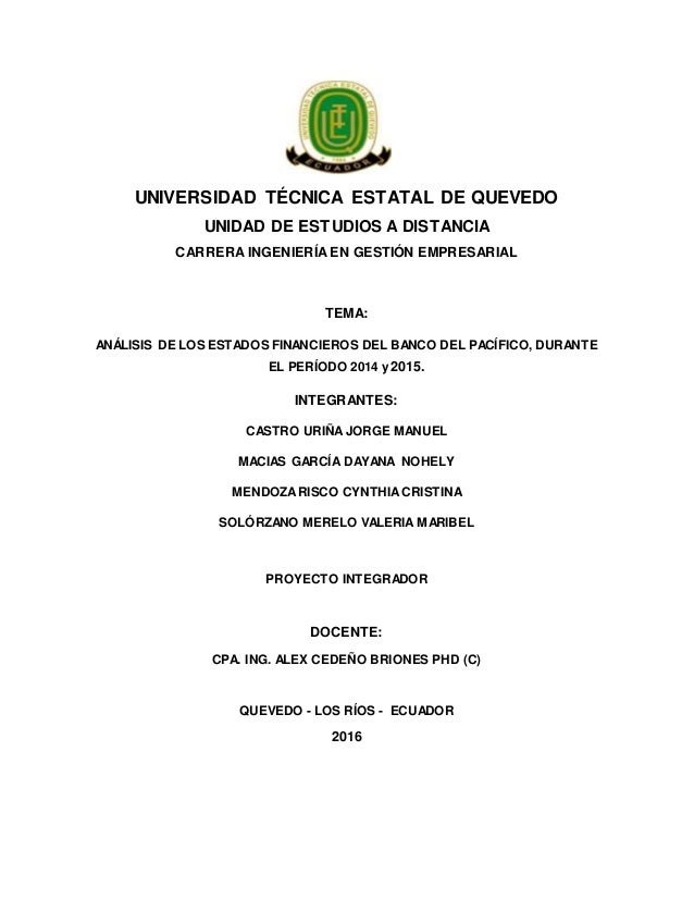 UNIVERSIDAD TÉCNICA ESTATAL DE QUEVEDO UNIDAD DE ESTUDIOS A DISTANCIA CARRERA INGENIERÍA EN GESTIÓN EMPRESARIAL TEMA: ANÁL...