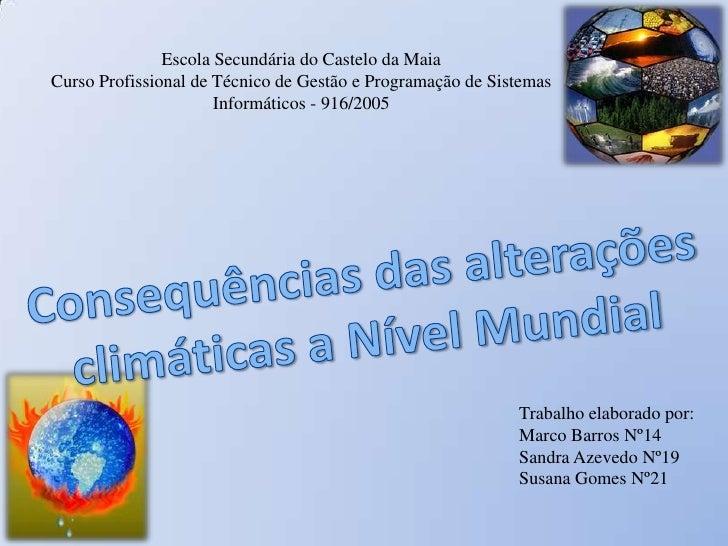 Escola Secundária do Castelo da Maia <br />Curso Profissional de Técnico de Gestão e Programação de Sistemas Informáticos ...