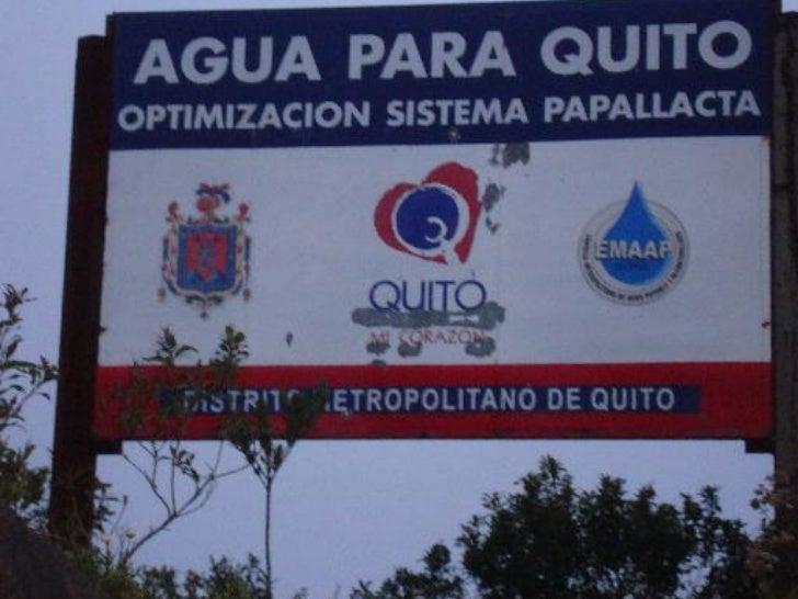 LAS FUENTES DEAgua de QUITO           Recursos hídricos principales           Usos del agua en la           Hoya de Quito ...