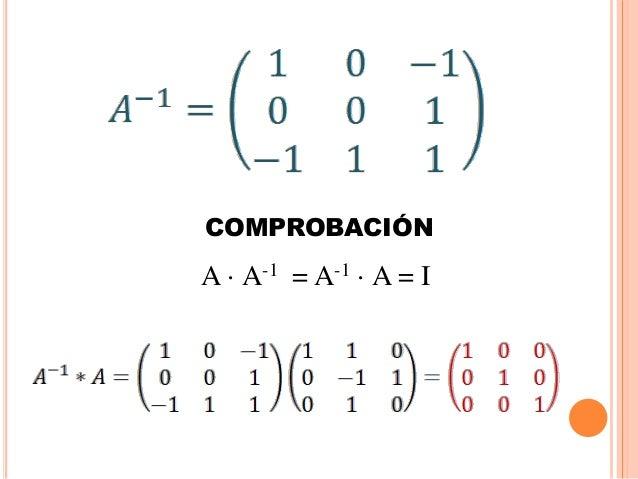Matriz Inversa y Matrices Semejantes