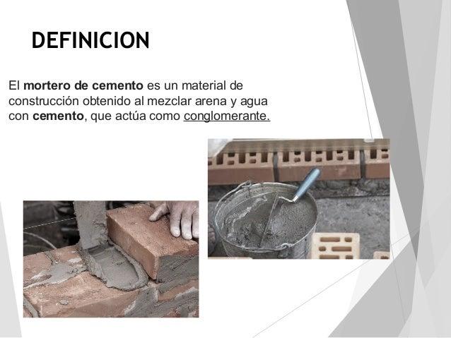 Concreto y mortero for Mortero de cemento
