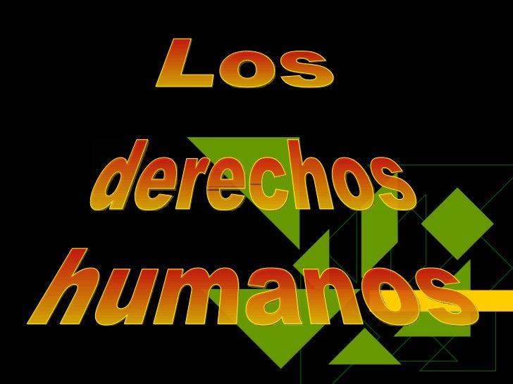 derechos Los humanos