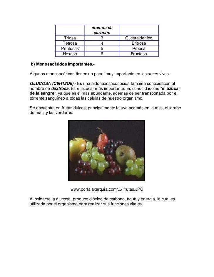 átomos de                                  carbono                  Triosa             3             Gliceraldehído       ...