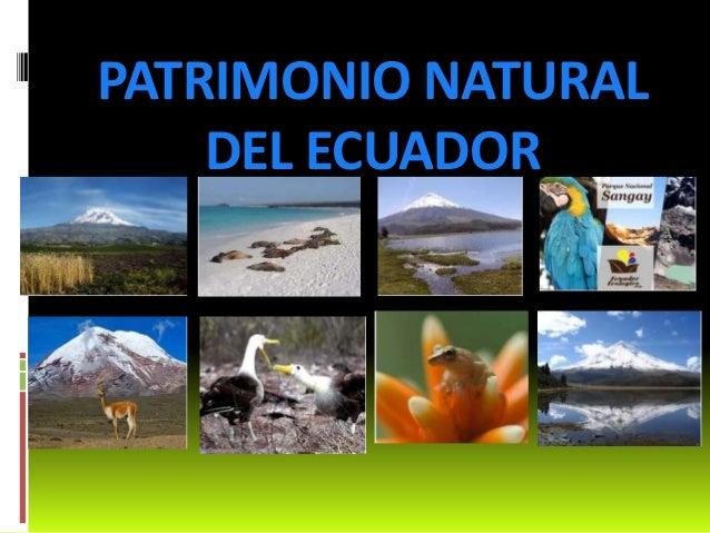 PATRIMONIO NATURAL DEL ECUADOR