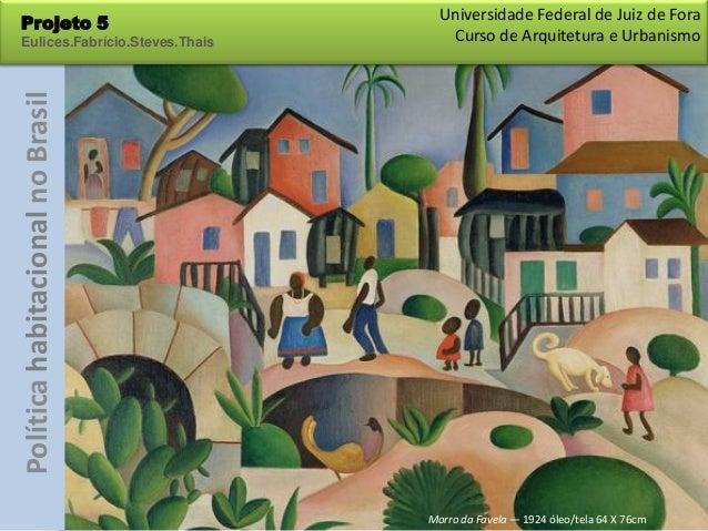 Universidade Federal de Juiz de ForaProjeto 5Eulices.Fabrício.Steves.ThaisPolítica habitacional no Brasil      Curso de Ar...