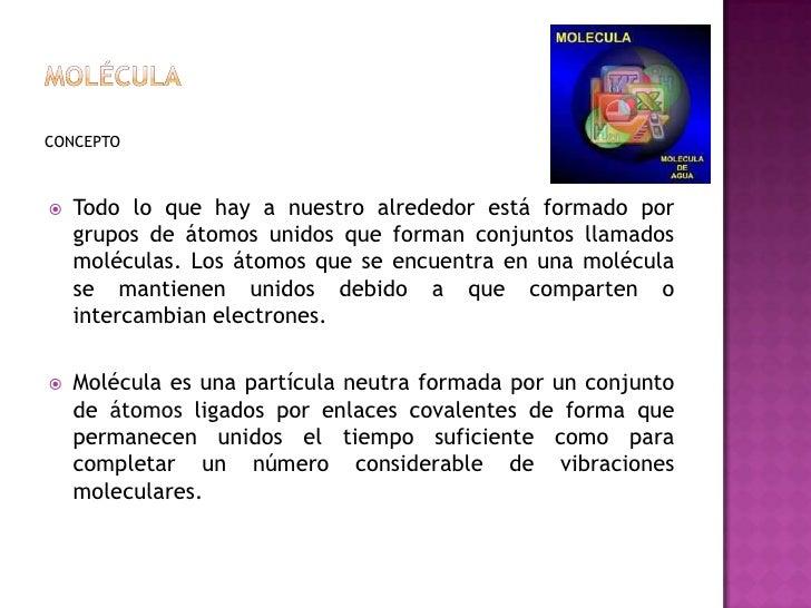Mol culas y compuestos moleculares for Molecula definicion
