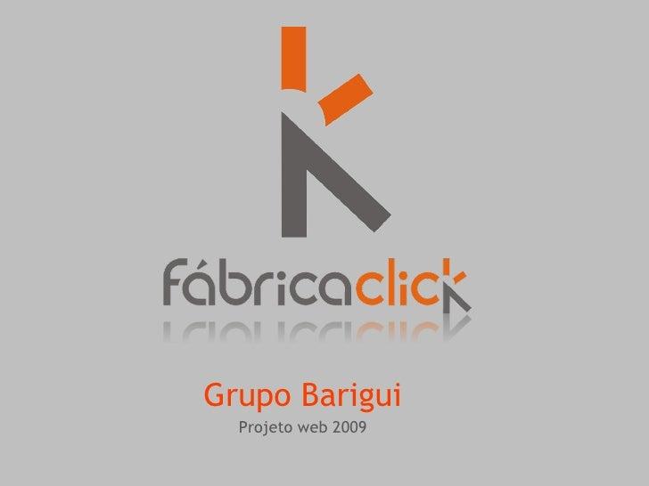 Grupo Barigui   Projeto web 2009