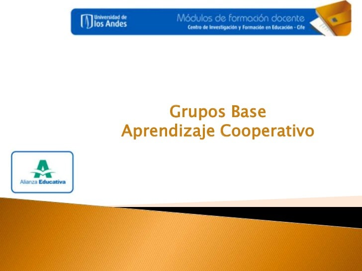 Grupos Base <br />Aprendizaje Cooperativo <br />