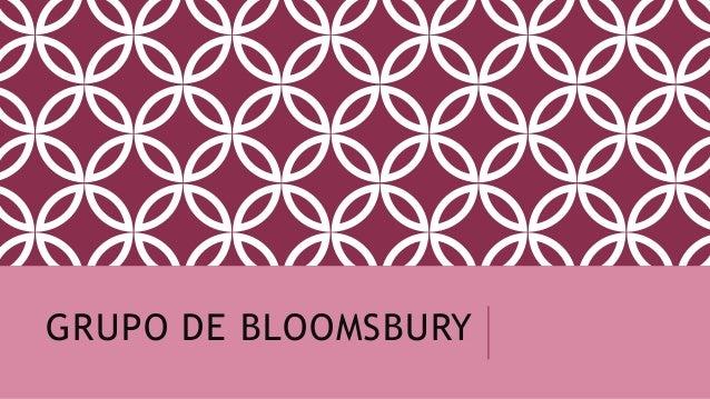 GRUPO DE BLOOMSBURY