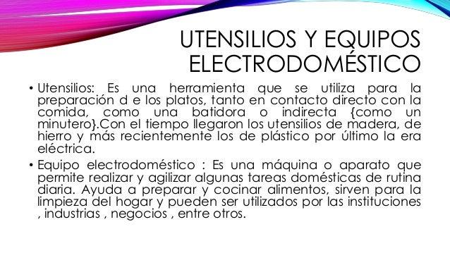 Equipos y utensilios de cocina for Gastronomia definicion