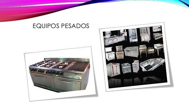 Equipo y utensilios for Equipos para cocina