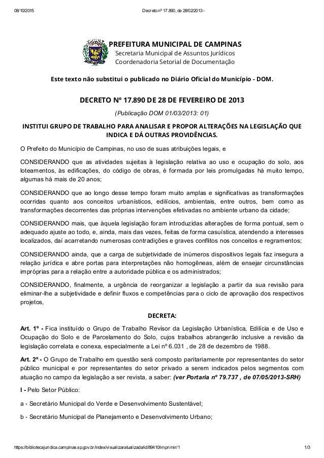 08/10/2015 Decretonº17.890,de28/02/2013 https://bibliotecajuridica.campinas.sp.gov.br/index/visualizaratualizada/id/...
