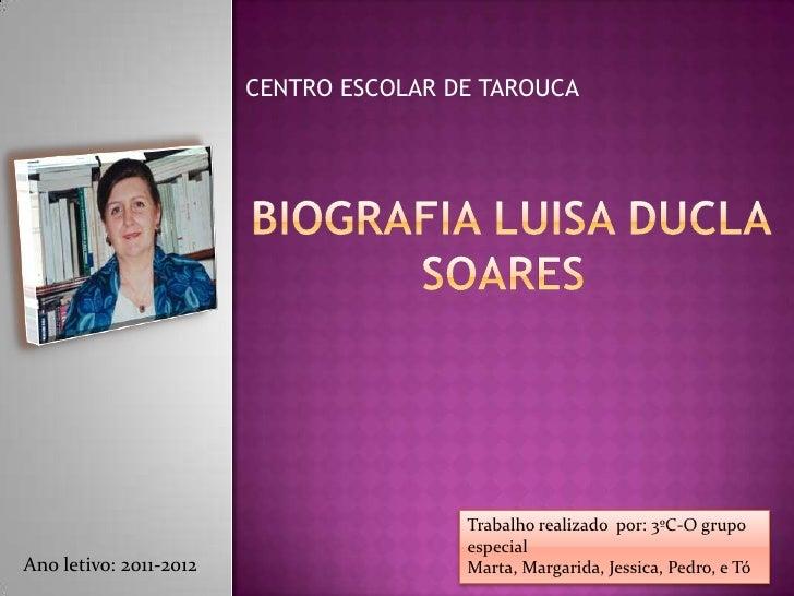 CENTRO ESCOLAR DE TAROUCA                                        Trabalho realizado por: 3ºC-O grupo                      ...