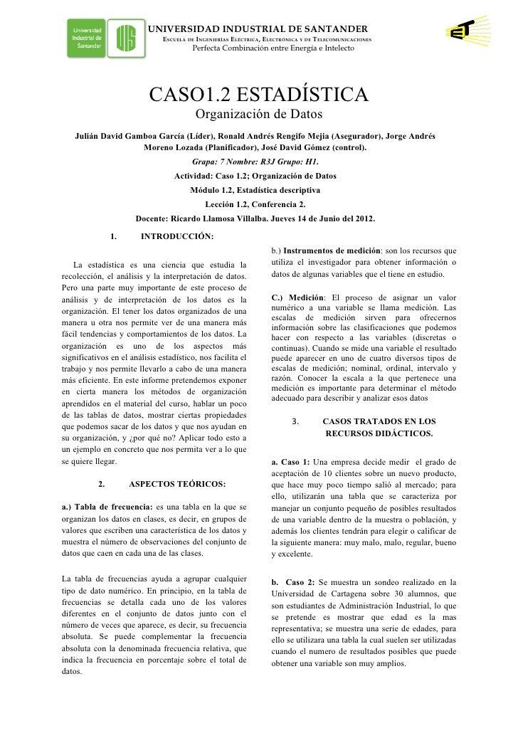 UNIVERSIDAD INDUSTRIAL DE SANTANDER                               ESCUELA DE INGENIERÍAS ELÉCTRICA, ELECTRÓNICA Y DE TELEC...