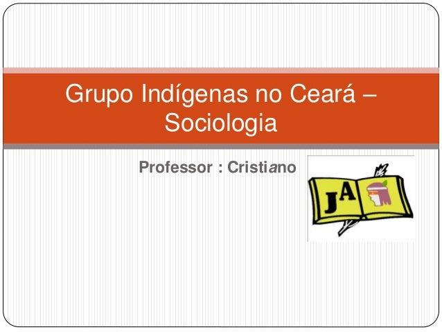 Professor : Cristiano Grupo Indígenas no Ceará – Sociologia