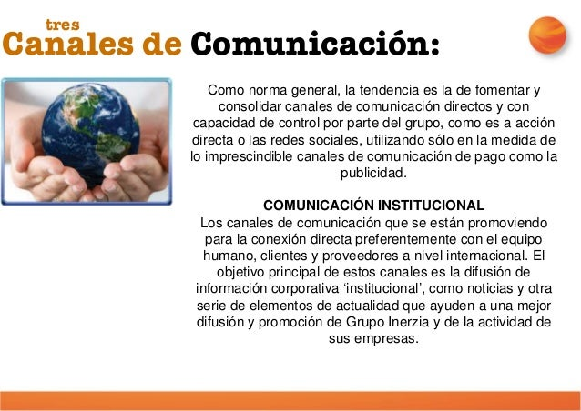 Canales de Comunicación: tres