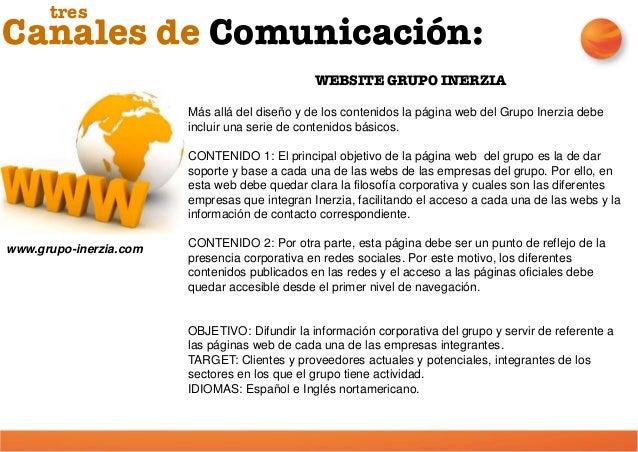 WEBSITES DE EMPRESAS DEL GRUPO Cada una de las empresas del grupo dispone de su propia plataforma web que está gráficament...