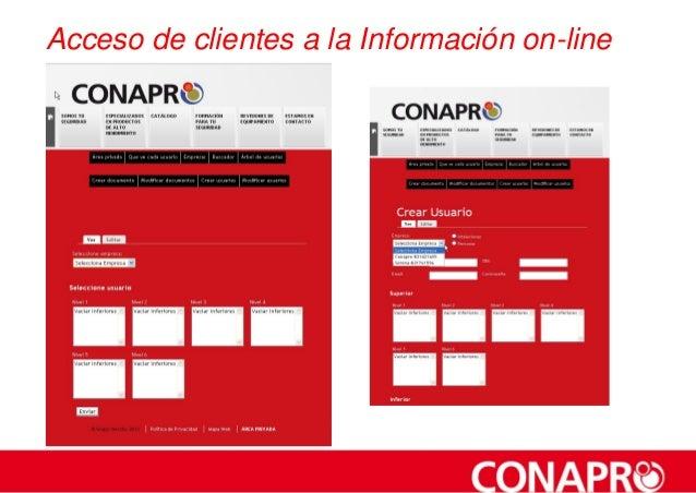 Acceso de clientes a la Información on-line