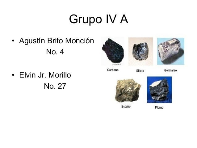 Grupo iv a de la tabla peridica grupo iv a agustn brito moncin no urtaz Choice Image