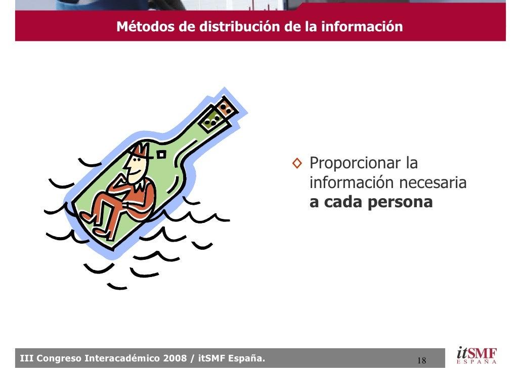 Métodos de distribución de la información                                                        ◊ Proporcionar la        ...