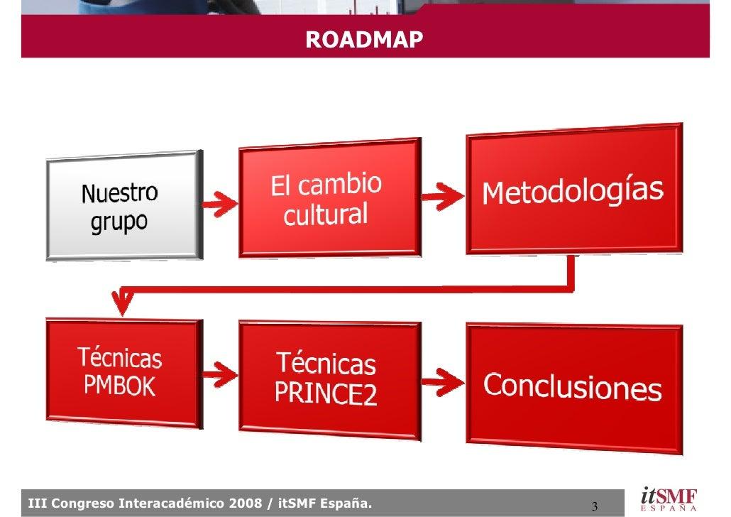 ROADMAP     III Congreso Interacadémico 2008 / itSMF España.   3