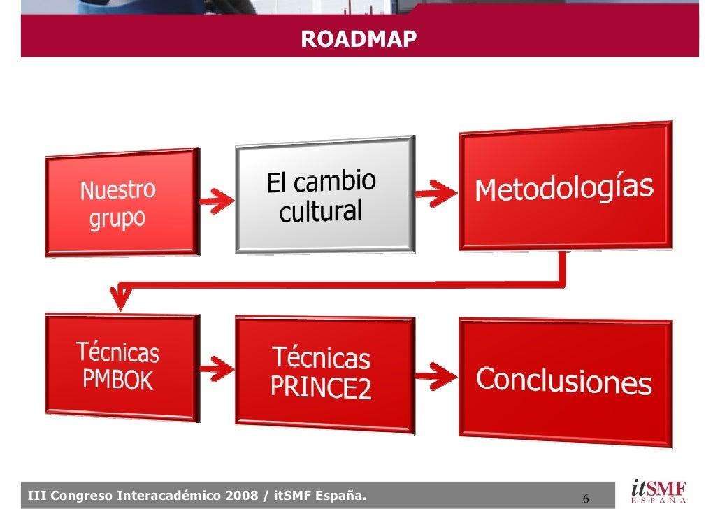 ROADMAP     III Congreso Interacadémico 2008 / itSMF España.   6