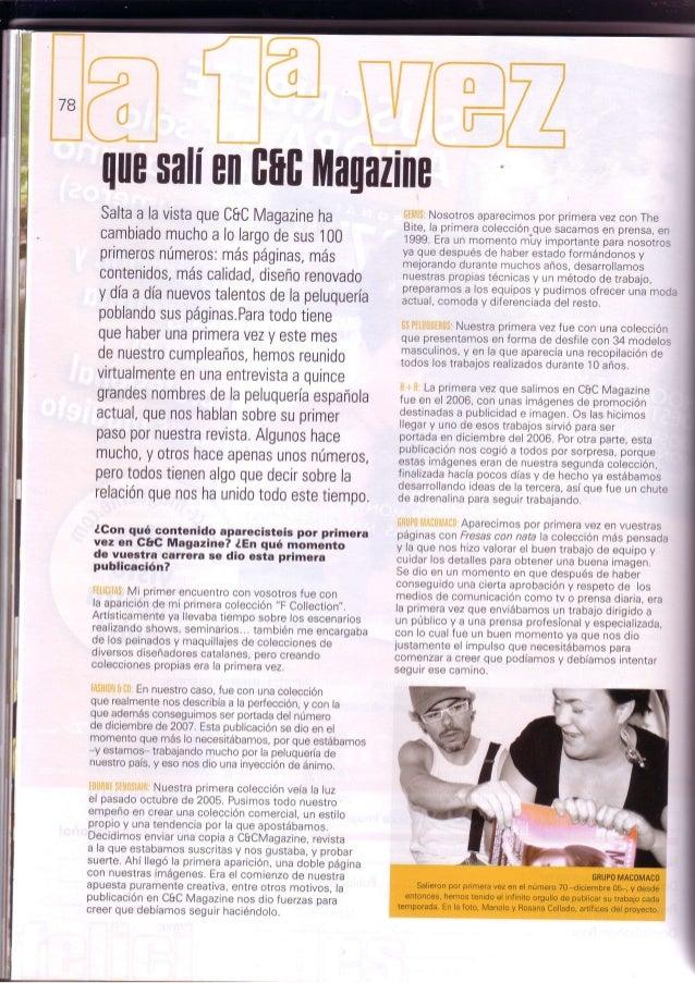 Grupo macomaco   entrevistas - revista c&c magazine nº 100 ''la primera vez..''