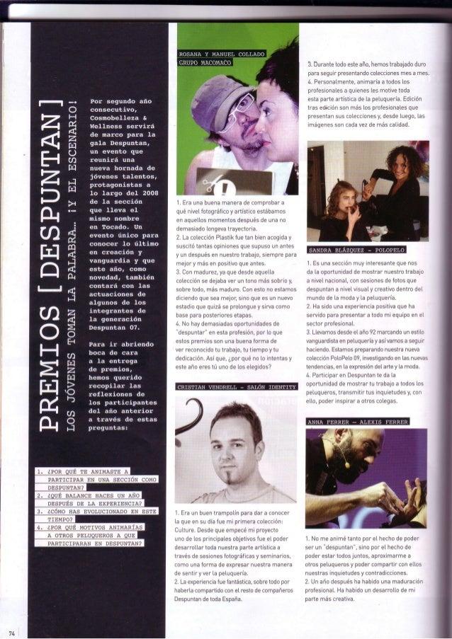 Grupo macomaco   entrevistas - revista tocado nº 606 ''premios despuntan''