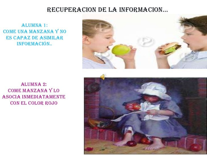 RECUPERACION DE LA INFORMACION…<br />Alumna 1:  <br />Come una manzana y no es capaz de asimilar información..  <br />Alum...