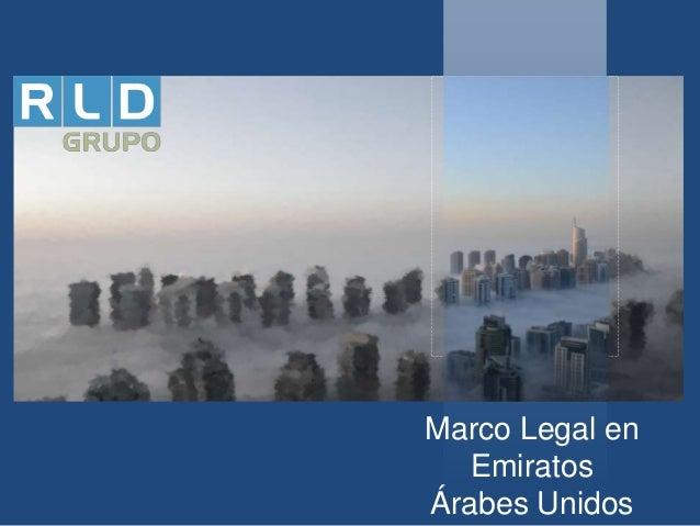 Marco Legal en Emiratos Árabes Unidos