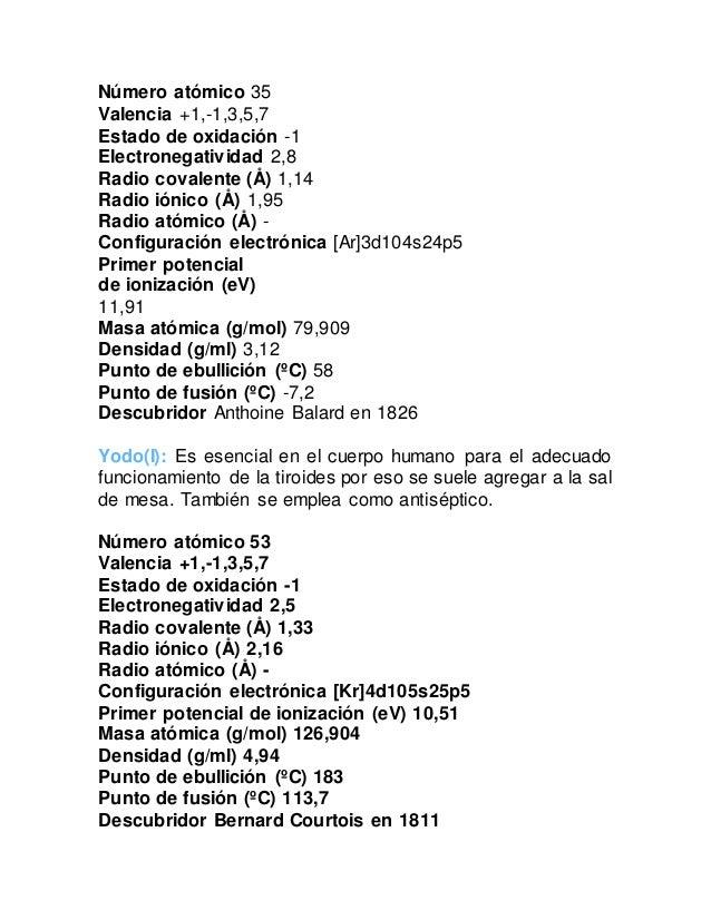 nmero atmico 35 valencia