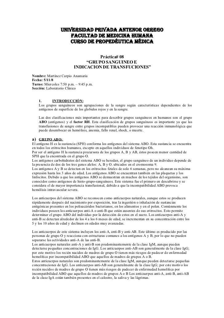 UNIVERSIDAD PRIVADA ANTENOR ORREGO                        FACULTAD DE MEDICINA HUMANA                        CURSO DE PROP...