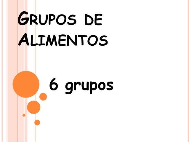 GRUPOS DEALIMENTOS6 grupos